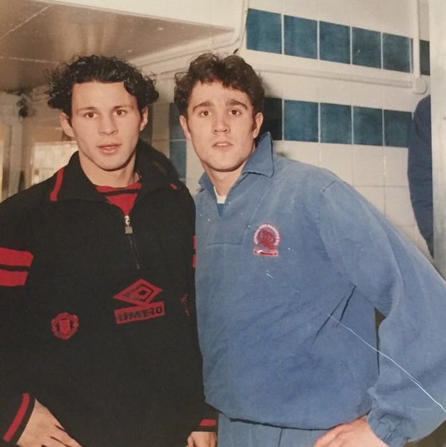 Meaks with Ryan Giggs
